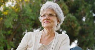 Senior woman enjoying the fresh air Royalty Free Stock Photography