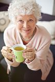 Senior Woman Enjoying Her Tea Stock Photo