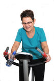 Senior woman enjoying her workout Royalty Free Stock Images