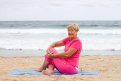 Senior woman exercise Stock Image