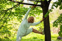 Senior woman exercise Royalty Free Stock Image