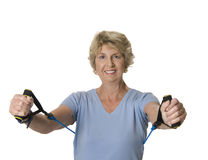 Senior woman exercising Royalty Free Stock Photo