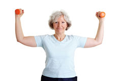 Senior woman exercising Royalty Free Stock Photos