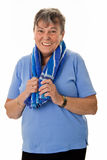 Senior woman after exercising Stock Photo