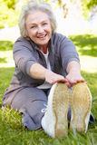 Senior woman exercising Stock Photography