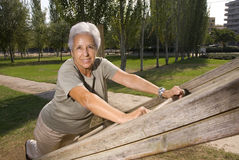 Senior woman exercising Stock Photos