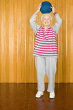 Senior woman exercising with a ball Royalty Free Stock Images