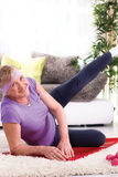 Senior woman exercising Royalty Free Stock Image