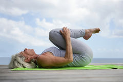 Senior woman exercising outside Royalty Free Stock Image
