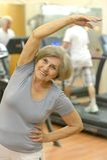 Senior woman exercising Royalty Free Stock Photos