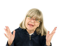 Senior woman explaining Stock Photography