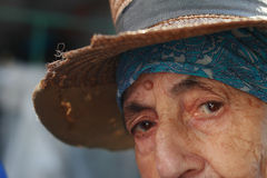 Senior woman eyes Stock Image