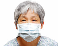 Senior woman with facemask Royalty Free Stock Photo
