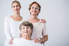 Senior woman with family Royalty Free Stock Photos