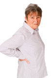 Senior woman feeling unwell Royalty Free Stock Photos