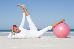 Senior woman fit and healthy lifestyle outdoor Stock Images