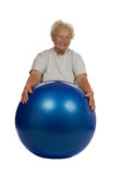 senior woman with a fitball Royalty Free Stock Photo
