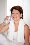 Senior woman and fitness Royalty Free Stock Images
