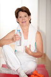 Senior woman and fitness Stock Photo