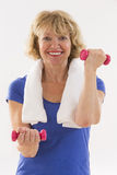 Senior woman fitness Royalty Free Stock Image