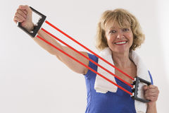 Senior woman fitness Royalty Free Stock Images