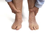 Senior woman foot Stock Photography
