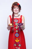 Senior woman with fruits Stock Photo