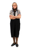 Senior woman full length portrait Royalty Free Stock Images