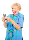 Senior Woman - Funny Text Message Royalty Free Stock Photo
