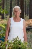 Senior woman gardening Stock Photos