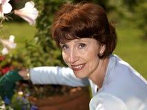 Senior woman gardening Stock Photography