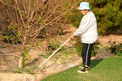 Senior Woman Gardening Stock Photography