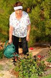 Senior woman gardening Royalty Free Stock Images