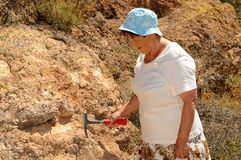 Senior Woman Geologist Royalty Free Stock Images