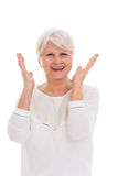 Senior woman gesturing Royalty Free Stock Photos