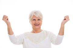 Senior woman gesturing Royalty Free Stock Photo