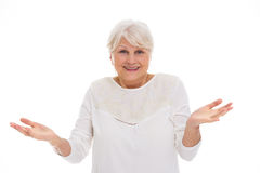 Senior woman gesturing Stock Photography