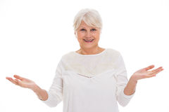 Senior woman gesturing Stock Photos