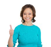 Senior woman giving thumbs up Royalty Free Stock Photography