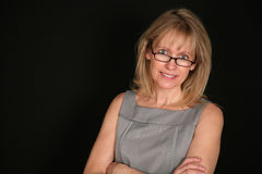 Senior woman with glasses Royalty Free Stock Photos