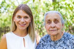 Senior woman with granddaughter Stock Photos