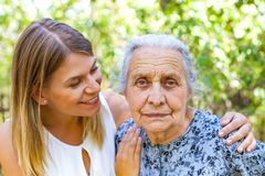 Senior woman with granddaughter Royalty Free Stock Photography