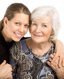 Senior woman  and granddaughter Stock Images
