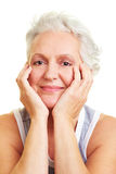 Senior woman with gray hair Royalty Free Stock Photo
