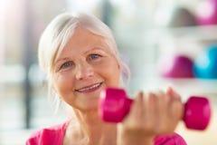Senior woman at the gym Stock Photos