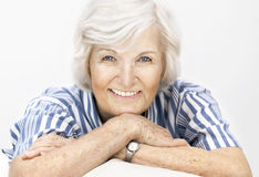 Senior woman happy Stock Images