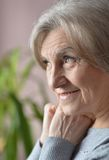 Senior woman happy at home Royalty Free Stock Photo