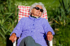 Senior Woman has a Rest Stock Image