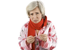Senior woman having flu Stock Photography
