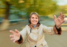 Senior woman having fun Stock Image